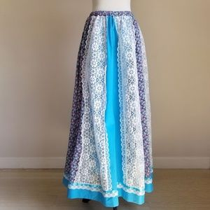 Vintage Carefree Fashions Prairie Skirt